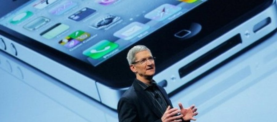 El CEO de Apple durante una ponencia