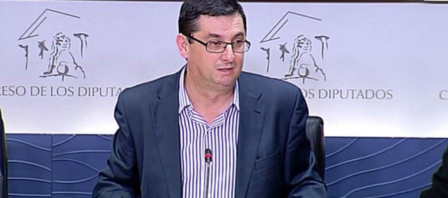 El portavoz de IU en el Congreso, José Luis Centella