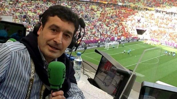 Alfredo Martínez en el estadio de Gdanks