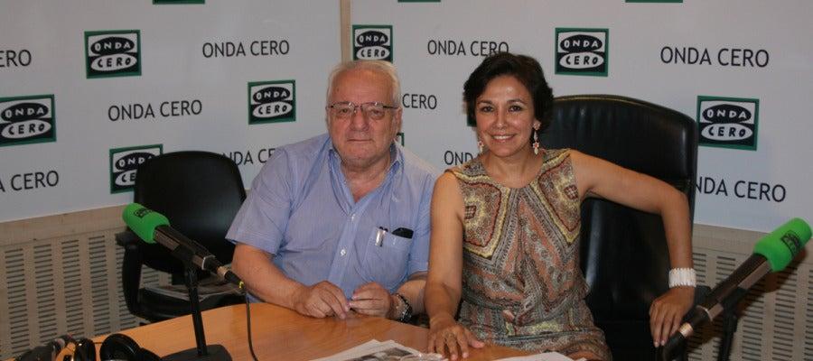 Javier Reverte e Isabel Gemio