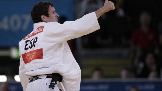 El judoka español Sugoi Uriarte durante su combate en Londres 2012
