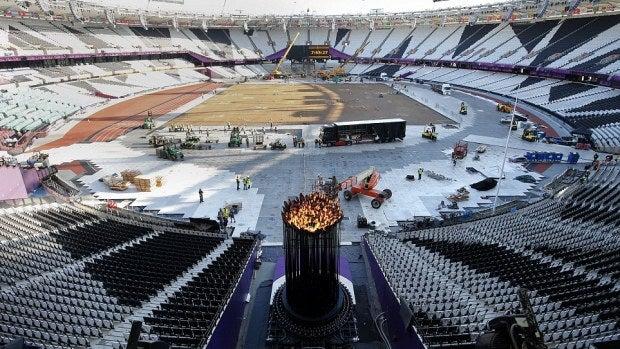 Nueva ubicación del pebetero en el estadio