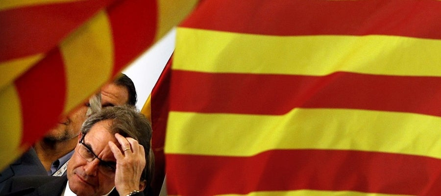 Artur Mas, en su comparecencia pública