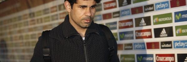 Diego Costa, a su llegada a la concentración de la selección española