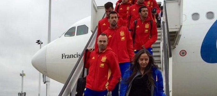 La Selección llega a Bruselas