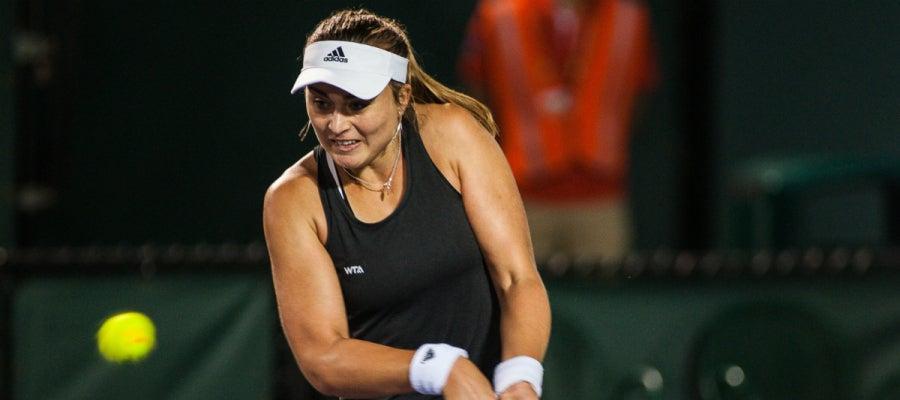 Paula Badosa, durante un partido