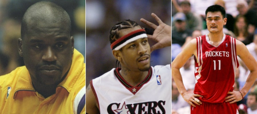 Shaquille O'Neal, Allen Iverson y Yao Ming