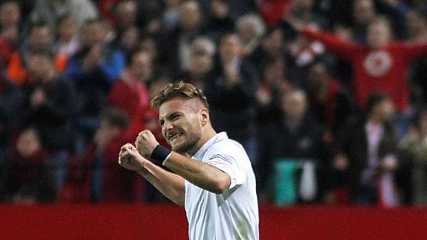 Immobile celebrando el gol ante el Espanyol