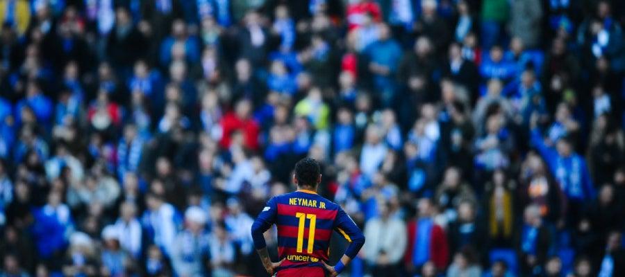 Neymar, durante el partido contra el Espanyol