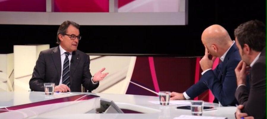 Artur Mas durante la entrevista en TV3