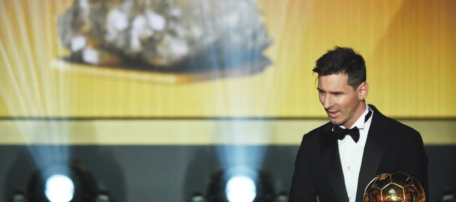 Messi, con su quinto Balón de Oro