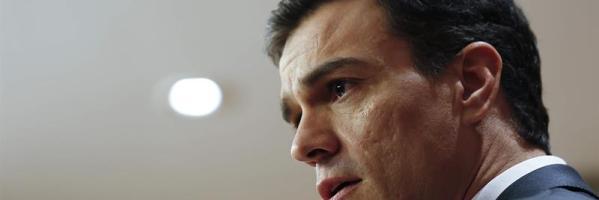 Pedro Sánchez, durante la rueda de prensa ofrecida tras la reunión que ha mantenido con el presidente del PNV