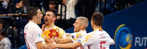 España doblega a la Portugal de Ricardinho y ya está en semifinales de la Eurocopa