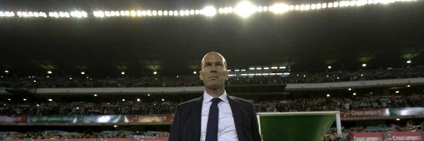 Zinedine Zidane, durante el partido contra el Betis