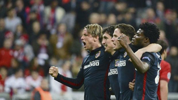 Torres, Savic, Saúl y Thomas Partey celebran el pase a la final