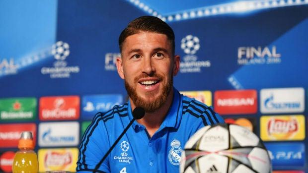 Sergio Ramos responde a los periodistas en la previa de la final