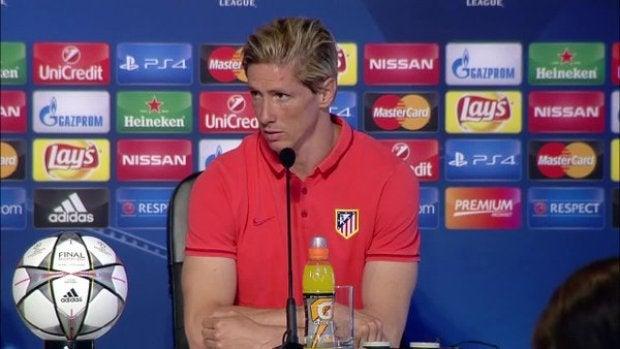 Fernando Torres en la rueda de prensa previa a la final