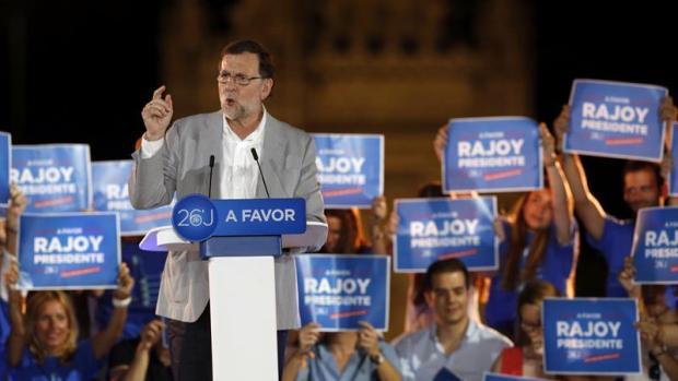 Mariano Rajoy en el cierre de campaña