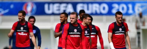 Rooney y Vardy, en el entrenamiento de Inglaterra