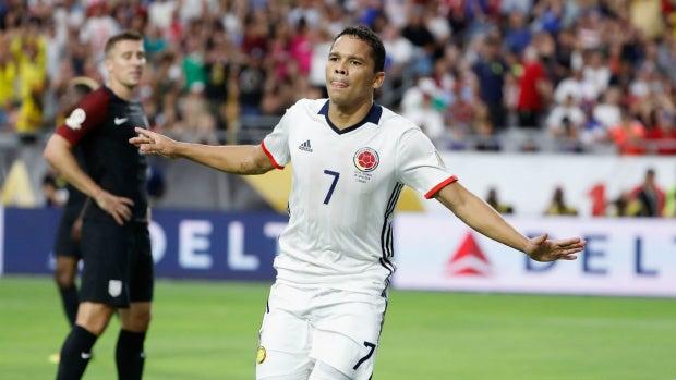 Bacca celebra un gol ante EEUU