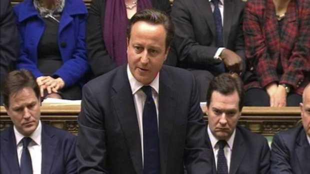 David Cameron en el Parlamento británico