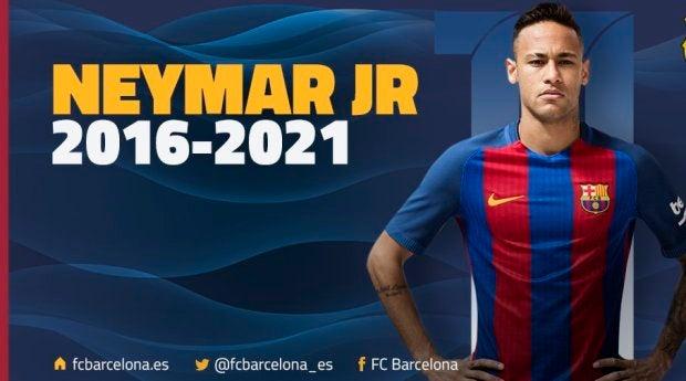 Neymar renueva con el barça