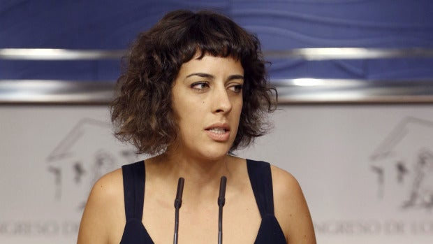 La portavoz de En Marea, Alexandra Fernández