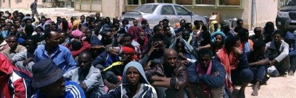 Centro de acogida de inmigrantes irregulares en la ciudad libia de Misrata