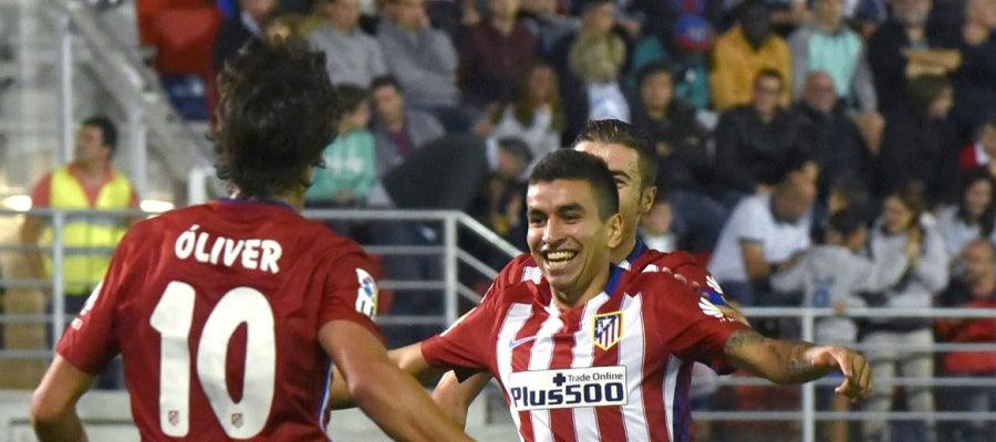 Ángel Correa celebra su primer gol con el Atlético de Madrid