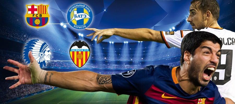 Barcelona - BATE y Gent - Valencia
