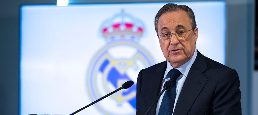 Florentino Pérez comparece ante los medios