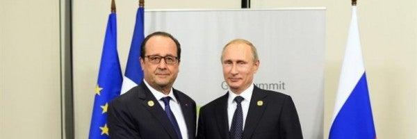 """Hollande y Putin abogan por crear una """"amplia coalición antiterrorista"""""""