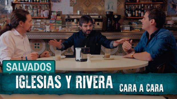 """Albert Rivera a Pablo Iglesias: """"Sé que os reunís con empresarios importantes"""" - Salvados"""