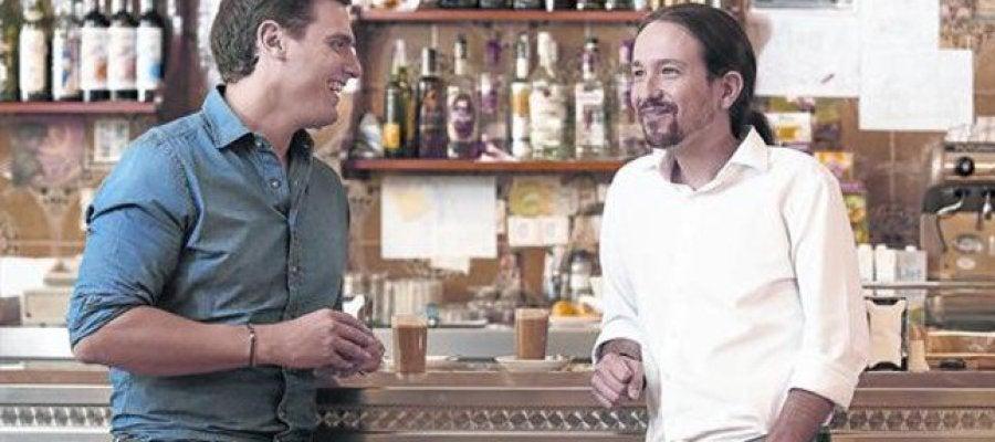 Los candidatos, Albert Rivera y Pablo Iglesias.