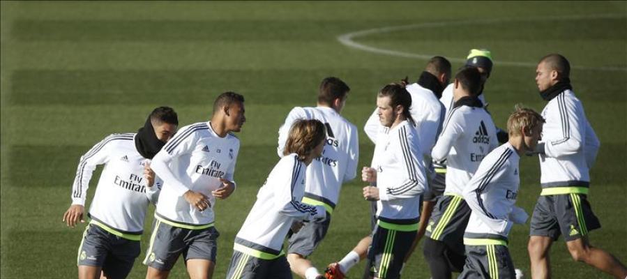 Último entrenamiento del Real Madrid antes del partido de Copa
