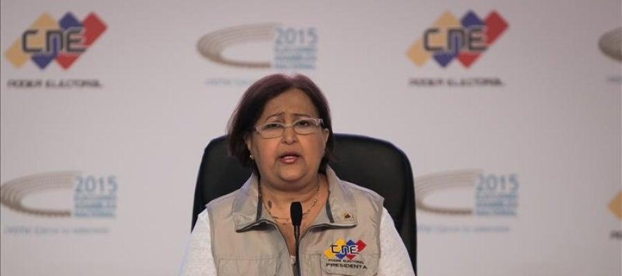 La presidenta del Consejo Nacional Electoral (CNE) de Venezuela, Tibisay Lucena