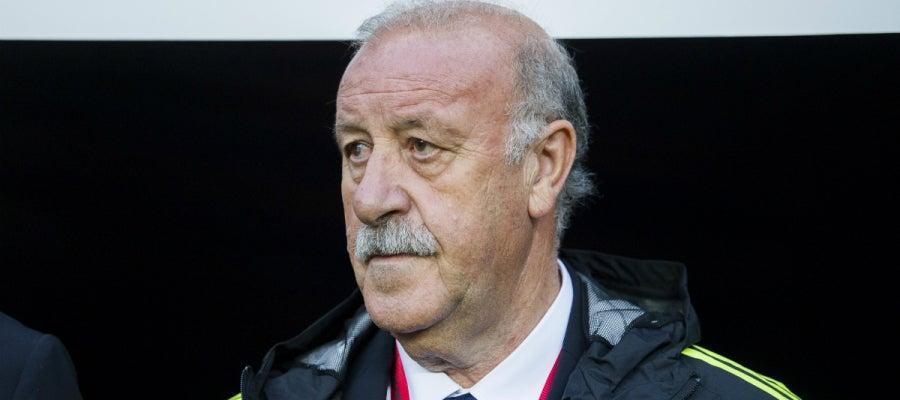 Del Bosque, en un partido con España