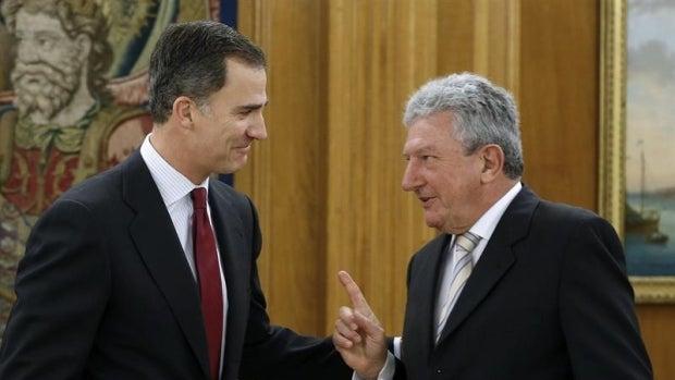 El Rey recibe al diputado de Nueva Canarias, Pedro Quevedo