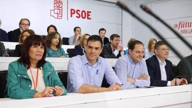 Pedro Sánchez en la reunión del Comité Federal del PSOE