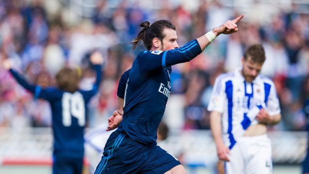 Bale salva el encuentro del Madrid con la Real Sociedad