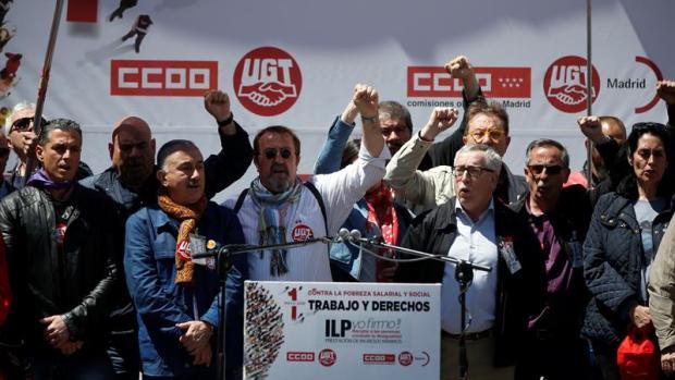 Los secretarios generales de CCOO y UGT, Ignacio Fernández Toxo y Pepe Álvarez