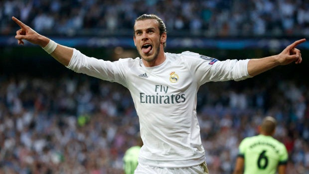 Bale celebrando su espectacular gol