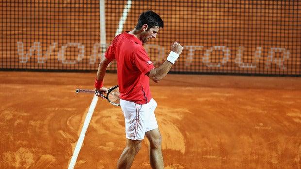Djokovic celebra el pase a la final