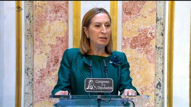 Ana Pastor en su comparecencia en el Congreso.
