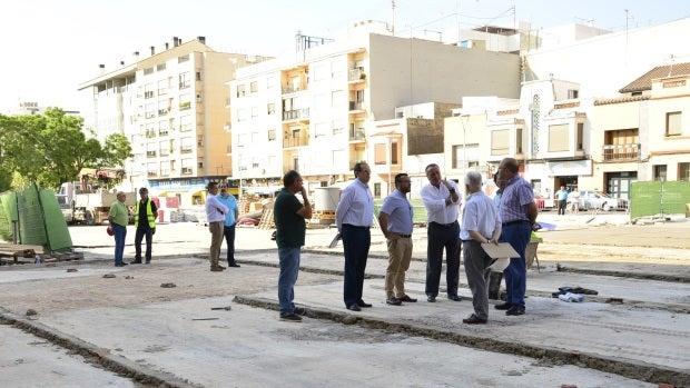 Obras de la nueva plaza del Madrigal