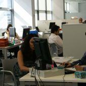Trabajando en una oficina