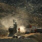 Máquina para perforar el túnel para los mineros