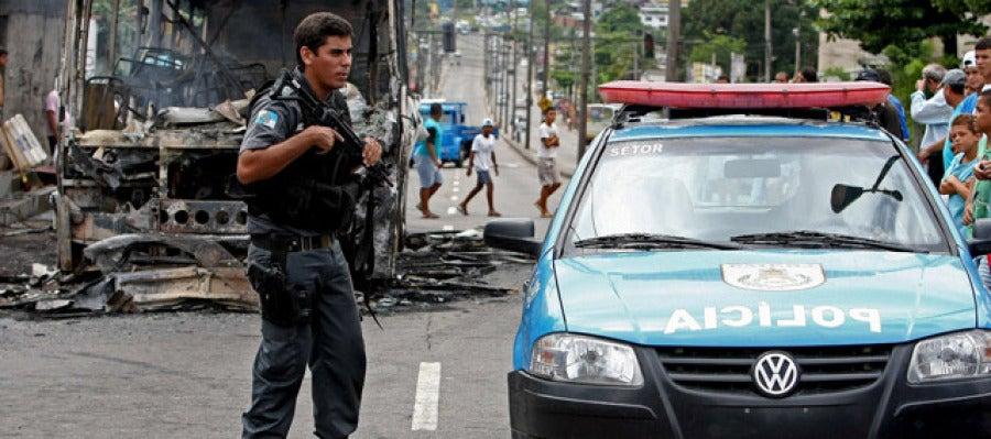 Un agente de policía brasileño