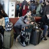 Largas esperas en los aeropuertos europeos