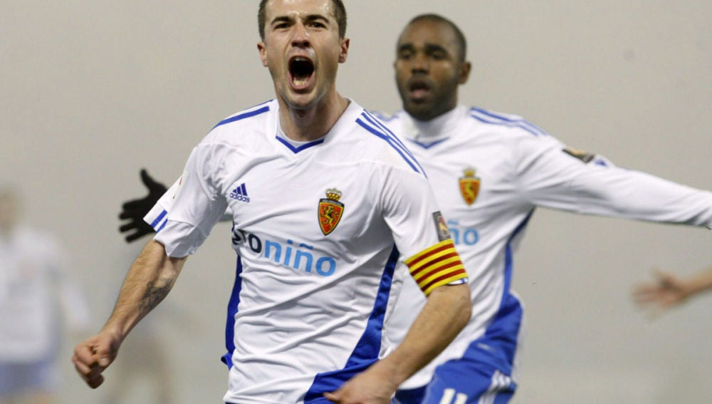 Gabi celebra su gol ante el Levante